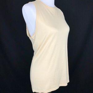 Ralph Lauren Silk Blend Nude Cream Tank Top XL